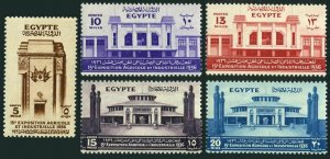 Egypt 198-202, MNH. Mi 208-212. Agricultural & Industrial EXPO, 1936. Buildings.