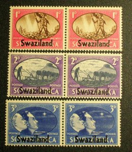 Swaziland Scott #38-40 unused