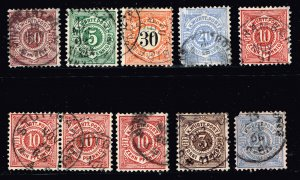 GERMANY STAMP Wurttemberg USED STAMPS COLLECTION LOT