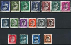 RAVENSBURG GERMAN LOCAL POST 1945, VALS TO 80pf VF MNH (SEE BELOW)