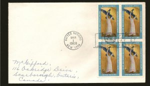 United Nations 183 Statue Block of 4 1968 First Day Cover