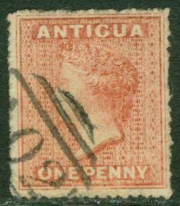 EDW1949SELL : ANTIGUA 1863 Scott #2 Very Fine, Used. Choice stamp. Catalog $70.