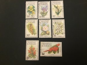 ICOLLECTZONE Trinidad and Tobago 393//405 VF used flowers