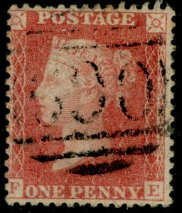 SG38, 1d pale red PLATE 62, LC14, FINE USED. Cat £35. FE