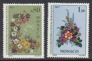 Monaco 1047-8 Flower Show mnh