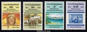 Cocos Islands Scott 203-206 Mint never hinged.