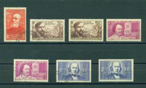 France sc# B86-89A mh & used cat value $34.80