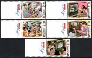Singapore 1644-1648, MNH. Television Broadcasting in Singapore, 50th anniv. 2013