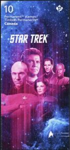 Star Trek: Year 2 Booklet of Ten Stamps Representing Each Generation