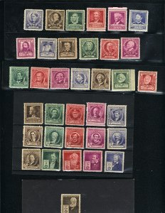 USA 859-93   -2   Complete Set mint 1940 PD