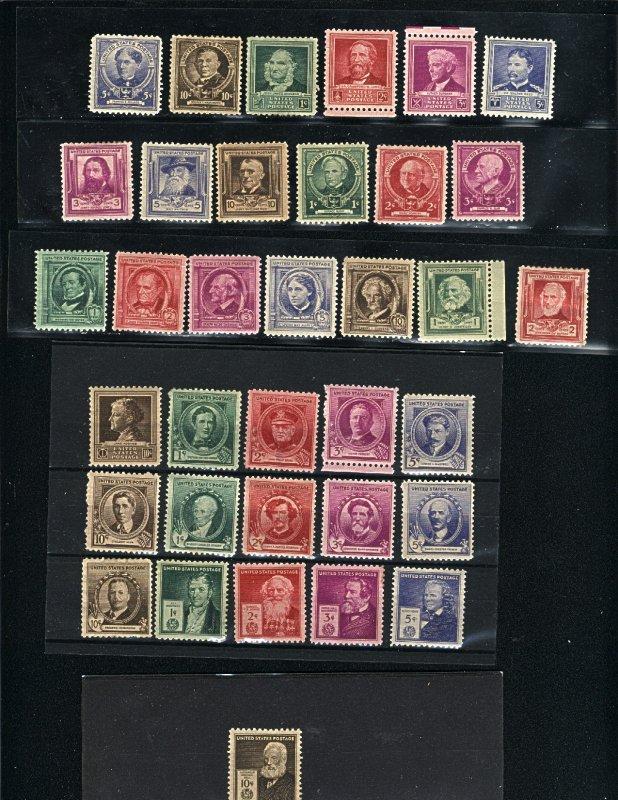 USA 859-93   -2   Complete Set mint 1940 PD