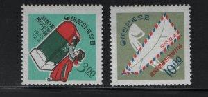 Korea 487-488 H 1965 child posting letter