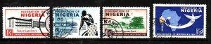 Nigeria-Sc#97-100- id5-used set-Maps-ining-1960-