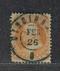 US Sc#71 Used, SON Cincinatti Cancel, Cv. $240