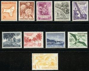 Christmas Island Scott 11-20 Unused H - 1963 Culture Set - SCV $6.50