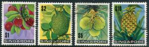 SINGAPORE # 198 - 201 VF Used Hinged Issues - FRUITS COCONUT PINEAPPLE - S6075