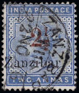 Zanzibar Scott 30B Gibbons 26 Used Stamp