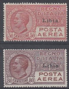 Libya Scott C1 Mint NH, C2 Mint hinged (Catalog Value $47.00)
