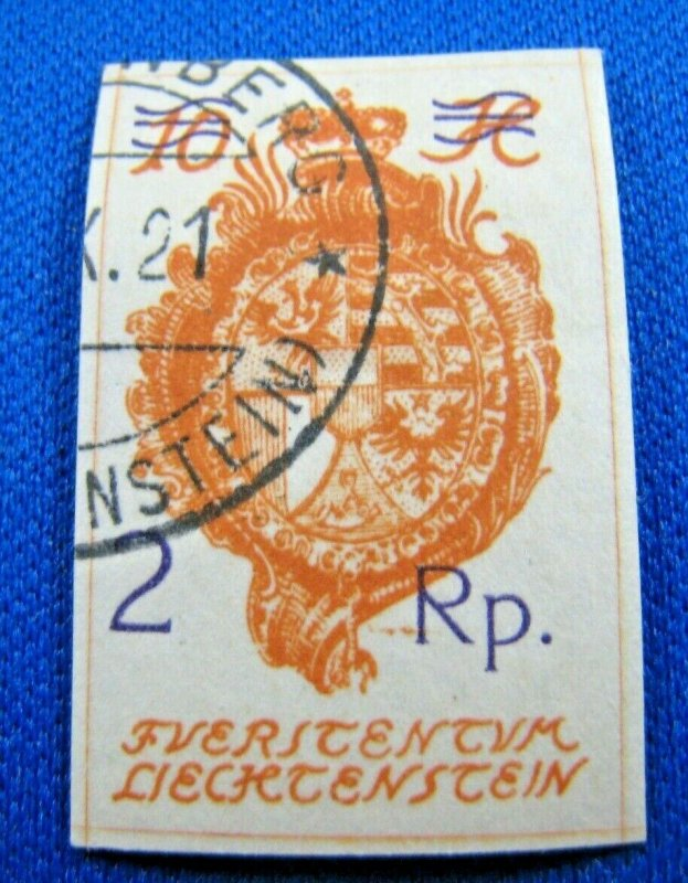 LIECHTENSTEIN 1921  -  SCOTT # 52  USED     (XL1)