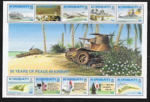Kiribati #612  50 Years of Peace Souvenir sheet  (MNH) CV$22.50