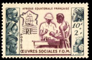 French Equatorial Africa 1950 Scott #B39 Mint Never Hinged