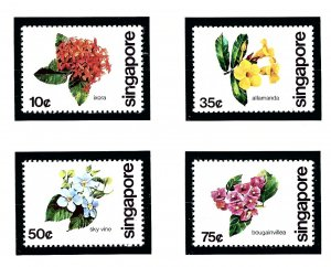 Singapore 363-66 MNH 1980 Flowers