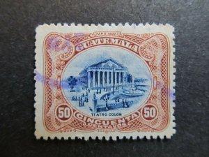 A4P10F36 Guatemala 1902 50c used