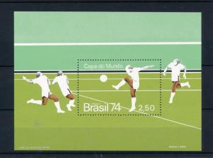 [44531] Brazil Brasilien 1974 World Cup Soccer Football Germany MNH Sheet