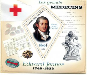 RED CROSS Edward Jenner s/s Perforated Mint (NH) #2