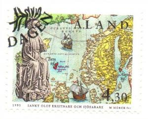 Aland Sc  119 1995 St Olaf stamp used