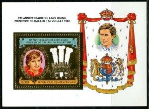 1982 Central African Republic 851/B191gold Princess Diana 11,00 €