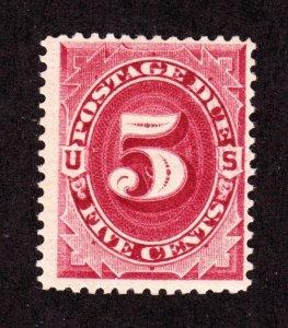 US J25 5c Postage Due Mint F-VF OG LH SCV $100
