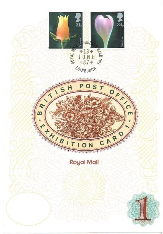 GREAT BRITAIN - 1987 - ROYAL MAIL BRITISH POST OFFICE EXHIBITION CARD 1