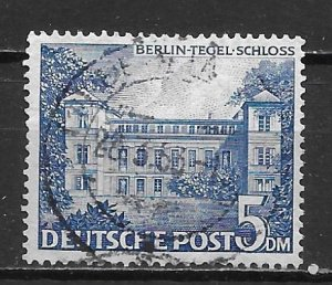 Germany Berlin 9N60 5m Tegel Castle single Used (z4)