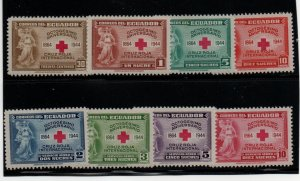 Ecuador 440-443, C131-4 Set. Mint Hinged