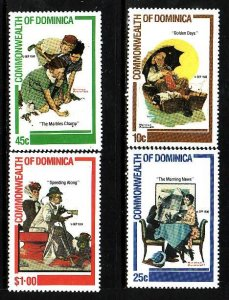 Dominica MNH 754-7 Norman Rockwell 1984