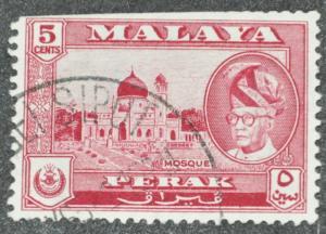 DYNAMITE Stamps: Malaya Perak Scott #130 – USED