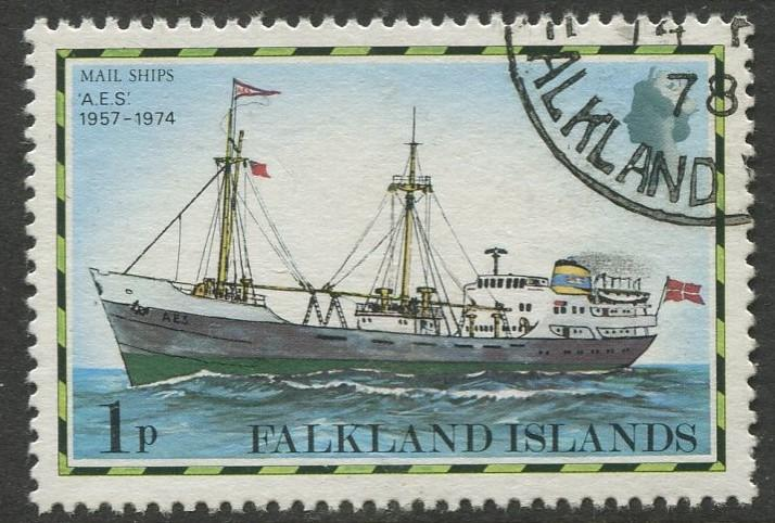 Falkland Is.- Scott 260 - Ships Issue - 1978 - VFU - Single 1p Stamp