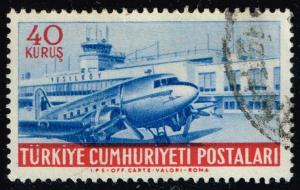 Turkey #C25 Yesilkoy Airport and Plane; Used (0.25)