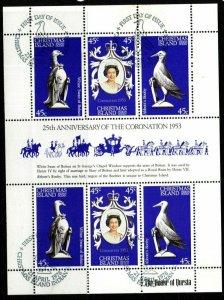 CHRISTMAS ISLAND SG96a 1978 25th ANNIV OF CORONATION SHEETLET FINE USED