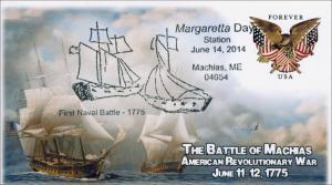 2014 Margetta Days, First Naval Battle, Pictorial Postmark, Item 14-125