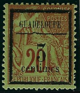 Guadeloupe Sc #3 Unused Fine...French colonies are in demand!