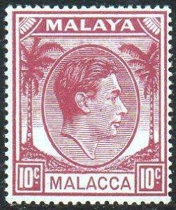 Malacca 1949 10c purple MH