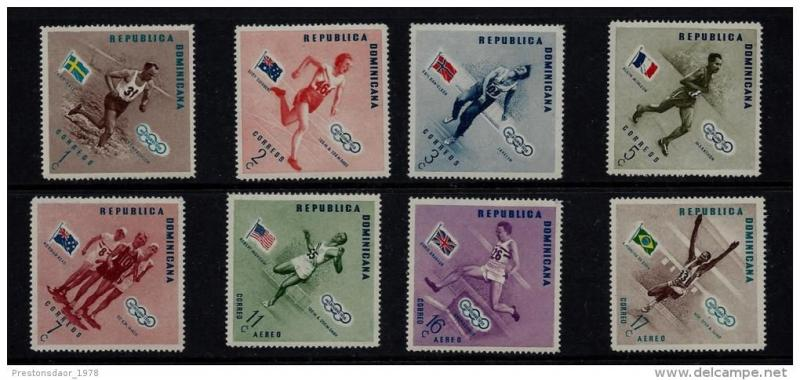 Dominican Republic Olympic Stamps 1956-57 32