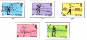 Jersey  Sc 1024-8 2002 La Moye Golf Club stamp set used
