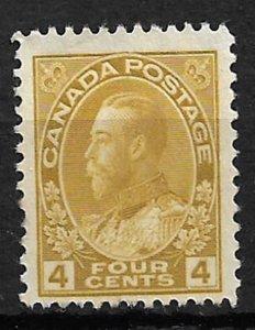COLLECTION LOT OF # 110 CANADA 1922 UNUSED NO GUM CV = $47.50
