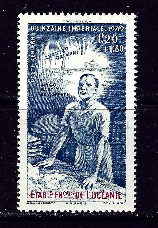 French Polynesia CB4 MH 1942 issue