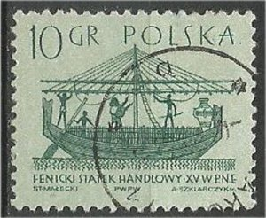 POLAND, 1963, used 10g, Ancient Ships Scott 1125