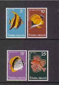 Tokelau 1975 Fish set Mint Never Hinged