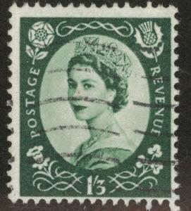 Great Britain Scott 307 used 1953 1sh3p stamp CV$3.75
